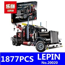 LEPIN 20020 1877Pcs Technic Series Pneumatic Tow Truck Model Kits Building Blocks Bricks Toys for Children Gift Compatible 8285(China)