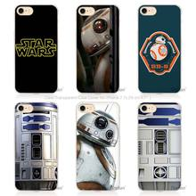 Hot Sale Star wars R2D2 Hard Transparent Phone Case Cover Coque for Apple iPhone 4 4s 5 5s SE 5C 6 6s 7 Plus