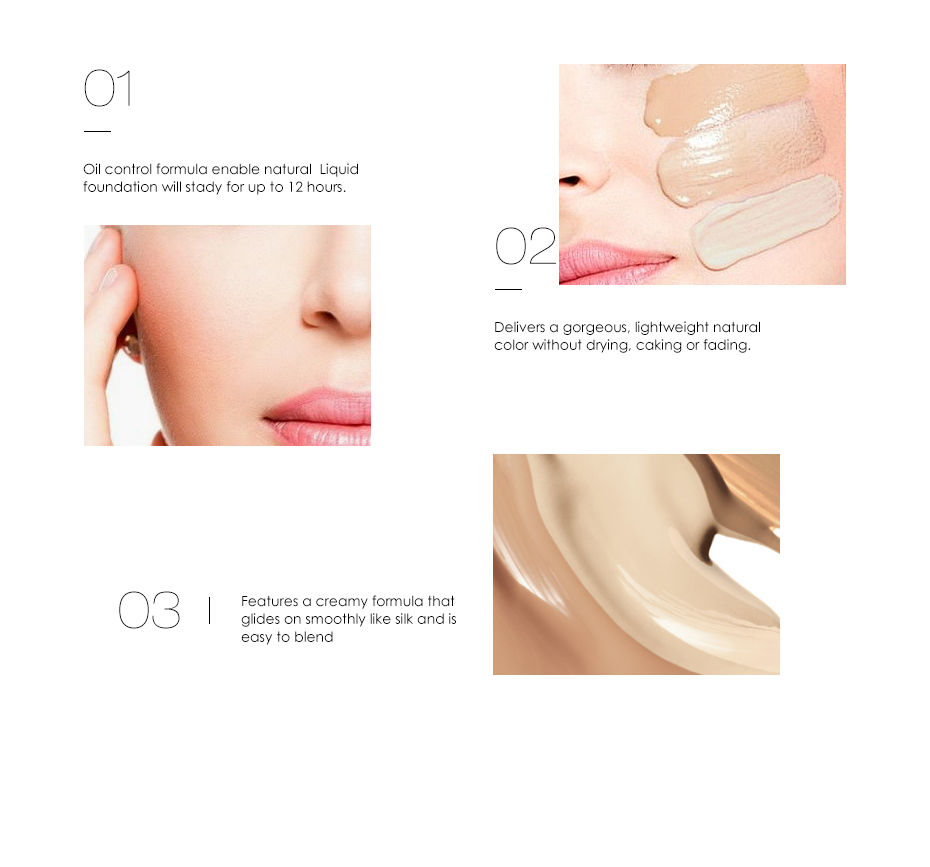 Face Makeup Base Face Liquid Foundation BB Cream Concealer Foundation Primer Easy to Wear Soft Carrying 7