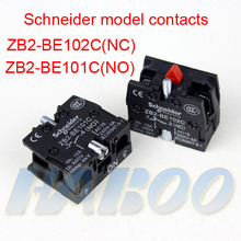 10PCS /packing ZB2-BE102C(NC),ZB2-BE101C(NO)  Schneider model contacts  factory directly for push button switch