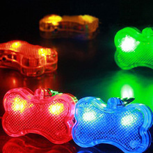 Hot Quality 1 PC Pet Dog LED Flasher Safety Pendant Collar Blinker Circular Light Clip VEC19