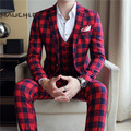 HTB1lfFlnhPI8KJjSspoq6x6MFXaD.jpg 120x120 - MAUCHLEY Prom Mens Suit With Pants Burgundy Floral Jacquard Wedding Suits for Men Slim Fit 3 Pieces / Set (Jacket+Vest+Pants)