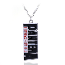 The Heavy Metal band METALLICA Pantera Pendant Necklace Music Band Necklace Cowboys From Hell Letter Necklace For Fans