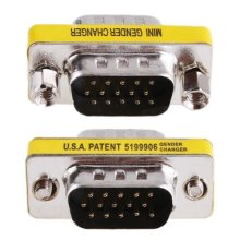 PROMOTION! 15 Pin HD15 VGA/SVGA M M Mini Gender Changer(China)
