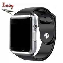 Maxinrytec Wristwatch A1 Smart Watch Clock Sync Notifier Support SIM TF Card Connectivity Apple iphone Android Phone Smartwatch