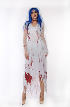 Maclover Free Shipping Horrible Design Easter Women Costume Long Party Dress With Blood