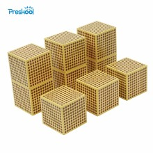 Baby Toy Montessori 9 Wood Thousand Cubes Maths Training Preschool Early Learning Kids Toys Brinquedos Juguete