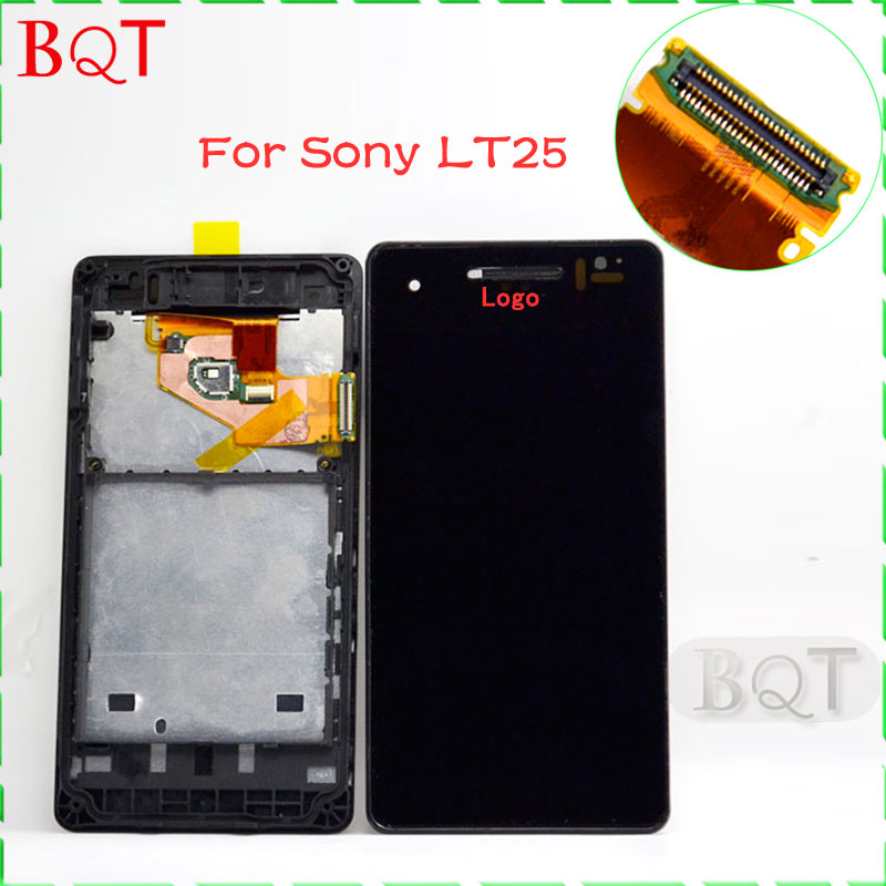 For Sony Xperia V LT25 LT25I LCD Display + Digitizer Touch Screen with Frame Assembly 100% Guarantee<br><br>Aliexpress