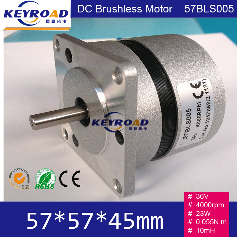 Circle Fuselage 36V 4000rpm 32W 0.055N.m Brushless DC Motor With Hall feedback / 3 phase  Brushless Commutator DC Motor 57BLS005<br>