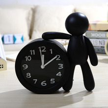 Cartoon human alarm clock cute alarm clock students creative table clock home decoration(China)
