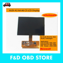 Promotion 2017 Free shipping high quality For VW for AUDI A3 A4 A6 VDO LCD Display New VDO LCD Display with High Quality for 1pc
