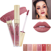 Brand Makeup Waterproof Liquid Matte Lipstick Long Lasting Batom Sexy Nude Lip Gloss Korea Cosmetics