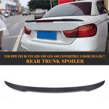4 Series Carbon Fiber Rear Trunk Spoiler Lip Wing for BMW F83 F33 Convertible 2 Door Only 14-17 M4 428i 430i 435i 440i Car Cover(China)