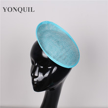 20CM turquoise millinery imitation SINAMAY fascinator base fascinators party hats DIY hair accessories women cocktail headwear