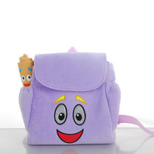 New Kids Animation cartoon Children schoolbags Dora Backpacks Girls small gifts backpacks plush cartoon School Bags Toddler(China)