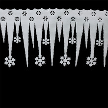 6pcs/lot 65CM Christmas Snowflake Icicle, Indoor Christmas Decoration,Wall decoration,Christmas Accessories(China)
