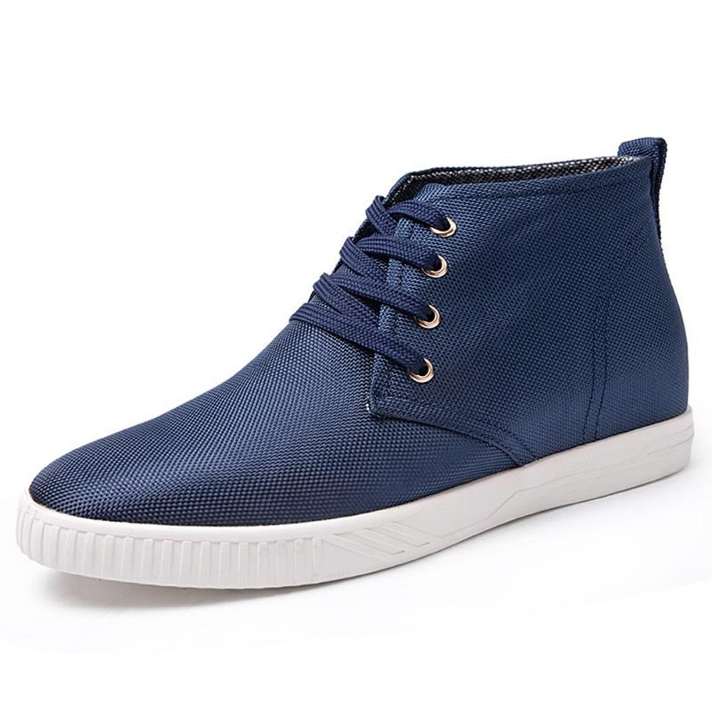 G1603 Spring/Autumn Casual Height Increasing Elevator Cloth Shoes Boots with Hidden Insole 5.5cm Blue Footwear<br><br>Aliexpress