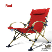 Fishing Chairs Beach Chair Portable Folding Chair Aluminum Folding Outdoor Chairs 4 Color Load 300KG Armchair Seat