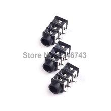10PCS 3.5mm 6Pin SMD Stereo Headphone Audio Jack Earphone Socket Audio Socket PJ313 The 3 Section Of the 6 pin
