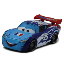 100% Original Pixar Cars Diecast NO.95 Blue France McQueen Metal Toy Car 1:43 Loose Brand New Alloy Car Toy for Children(China)