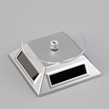 Solar Powered Rotating Jewelry Mobile Phone Ring Bracelet Watch Display Stand