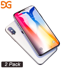 GUSGU 9H Hardness Phone Back Cover Screen Protector Tempered Glass for iPhone X Phone Anti-fingerprint Protective Back Film 2Pcs(China)