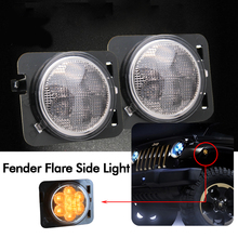 CO LIGHT Car Signal Light 1W 3000K 8 Led Chips Motorcycle Turn Signal Light For 4X4 Off Road Jeep Wrangler 12V(China)