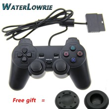 Waterlowrie  Black wired Dual Vibration Controller Gamepad for Sony Playstation 2 PS2 Controller Dualshock 2 Joystick Console
