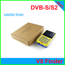 Free DHL[Genuine] freesat V8 finder hd dvb-s2 lcd display digital finder dvb s2 dvb s HD 3.5 inch digital satellite meter