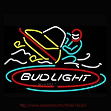 New Bud Light Snow mobile Neon Sign Handcrafted Neon Bulbs Real Glass Tube Decorat Room Outdoor Sports Neon Lights Impact 30x20