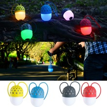 2017 news Wireless Bluetooth Fireflies speakers Colorful LED lights waterproof outdoor portable mini stereo lantern Color lamp