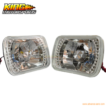 For Crystal Diamond Cut H6054 7X6 H4 Bulbs Sealed Beam LED Headlights Headlamp USA Domestic Free Shipping Hot Selling