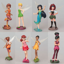 2016 7 pcs TinkerBell Tinker Bell Fairy Action Stand Action Figures Toy SET Boy Girls Kids Action Figure Toys Robot Kids Toys