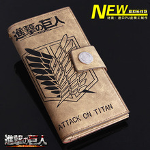 Japan anime Totoro ONE PIECE NARUTO Tokyo Ghoul Attack on Titan wallet cartoon long leather pu man women Purses 20 style