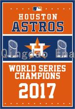 3x5ft Hot New Design USA 2017 Year Houston Astros World Series Champions Vertical Flag Custom with Grommets(China)