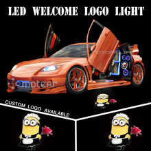 Universal Fit Car Door Welcome Light Projector Laser Female Minions GOBO Logo Light Welcome Ghost Shadow Puddle Emblem Spotlight(China)