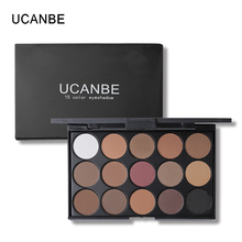 UCANBE 15 Earth Colors Matte Eyeshadow Palette Smoky Nude Cosmetics Makeup Eye Shadow paletas de sombras With Brush(China)