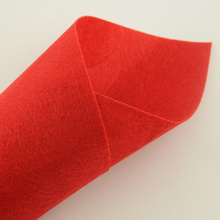 1MM Thick Nonwoven Polyester Felt Fabric Colored Red Sewing Cloth for Toyes Embroidery Hats Bag Shoes Gift Tissu Diy Material CM(China)