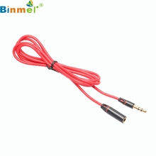3.5mm Stereo Audio Cable Red Male To Female M/F Plug Jack Headphone Connection Extension Cord Cable LJJ0314