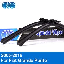 Oge Front And Rear Wiper Blades For Fiat Grande Punto 2005-2011 Natural Rubber Windshield Car Accessories(China)