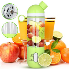 500ml Multifunction Portable Mini Juicer Shake Fruit Mixer Smoothie Maker Extractor Blender Outdoor Travel Cup(China)