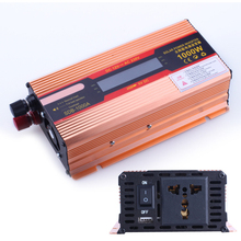 1000W DC 12V to AC 110V Solar Power Inverter Car Automotive Power Converter LED Display DC and AC Voltage Aluminum Alloy