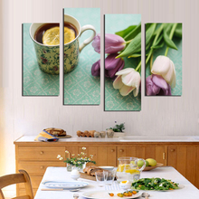 Modular Picture Artist Canvas Still Life Painting Colour Lustre flower Lemon Tea Wall Picture For Living Room Hot Cuadros Decor