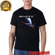 Футболка SpaceX Starman футболка Elon Musk Tesla Falcon 9 Размер s m l xl 2XL(China)