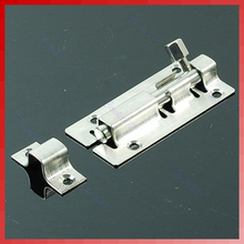 Stainless Steel Door Latch Barrel Bolt Latch Hasp Stapler Gate Lock Safety