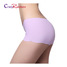 Sexy Women Thong Seamless Underpants underwear briefs Panties Safety pants Free shipping boyshort Mid-Rise(China)