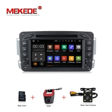 In Stock 4G Quad Core Android 7.1 Car DVD radio For Mercedes Benz W209 W203 W210 W463 M ML Vito Viano with GPS navigation player(China)