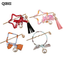 QIBEI New Women Fashion Hair Claws Hair Accessories for Girls Simple Hair Grip Arched Hair Clips Girls Ponytail Clamp Pins(China)