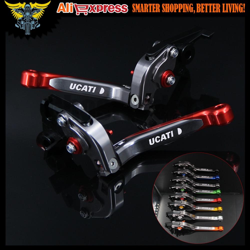 Adjustable Folding Motorbike Motorcycle Brake Clutch Levers For Ducati HYPERMOTARD 939/Strada 2017 Short only w/stock handguards<br><br>Aliexpress