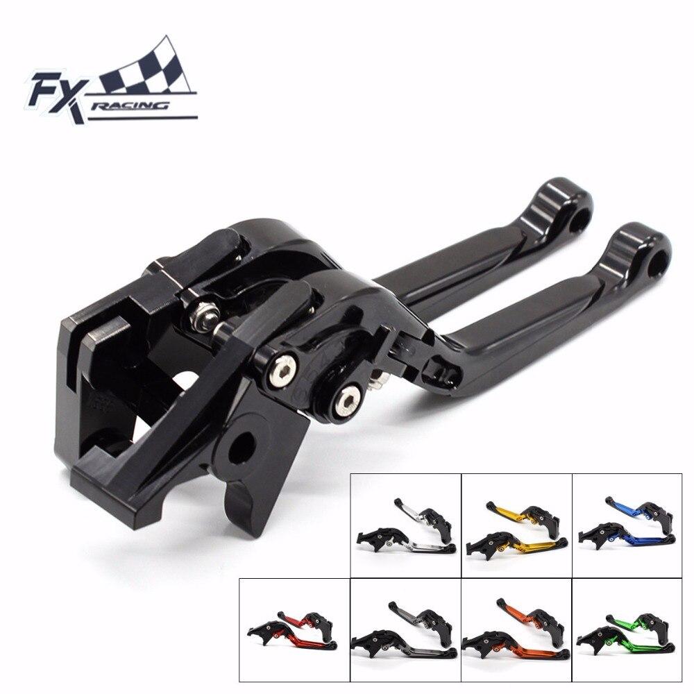 FX CNC Motorcycles Folding Extendable Brake Clutch Levers Aluminum Adjustable Fit For SUZUKI GSXR 600 GSX R750 2011 - 2017 <br>
